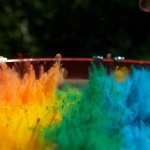 Slo-mo rainbow fun show!
