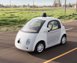 Self-driving car gets into fender bender