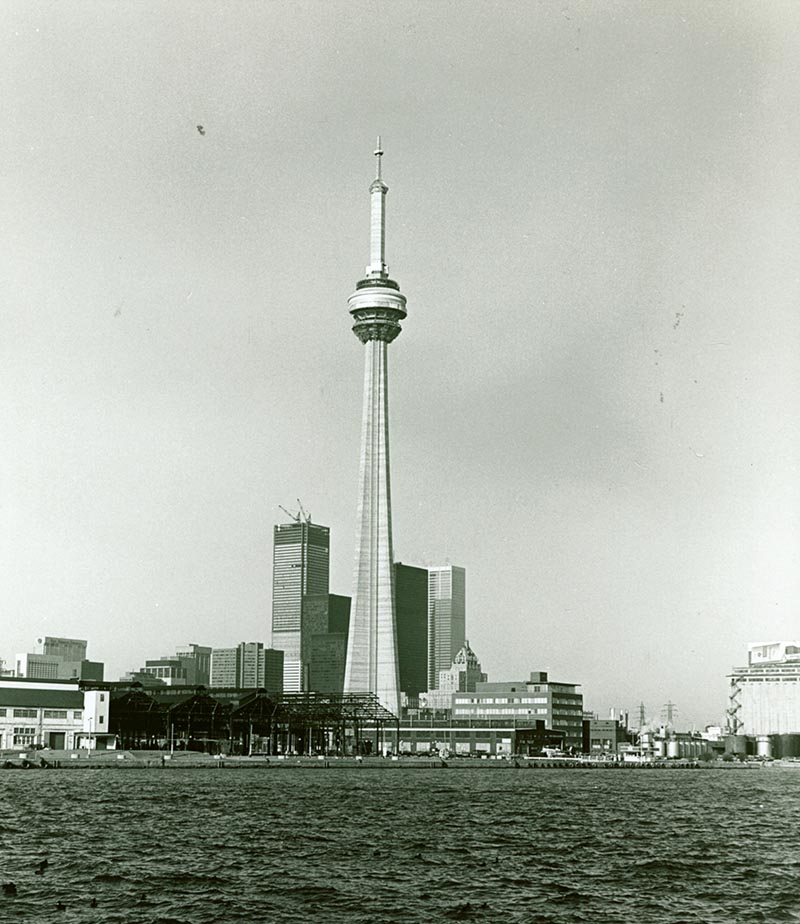 CN Tower under construction