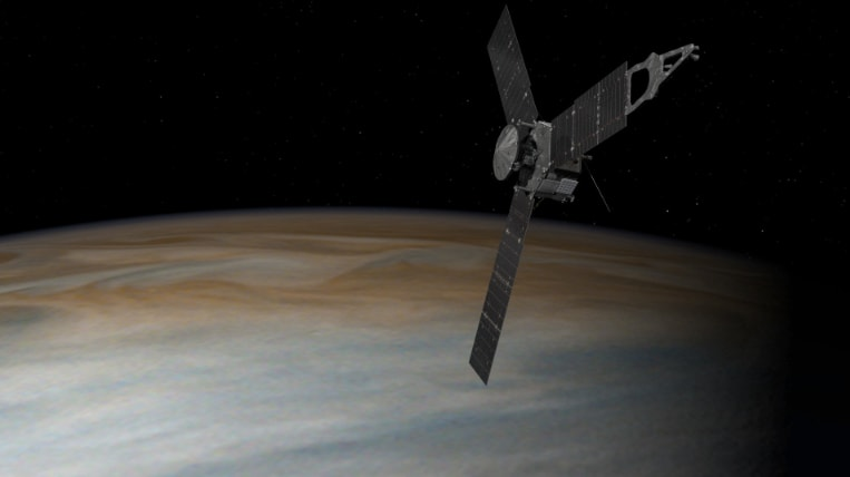 Juno orbiting jupiter