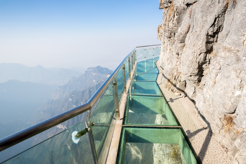 glass skywalk