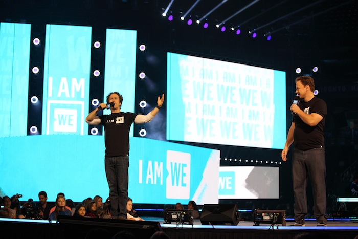 WE Day co-founders Craig and Marc Kielburger at WE Day Family 2016