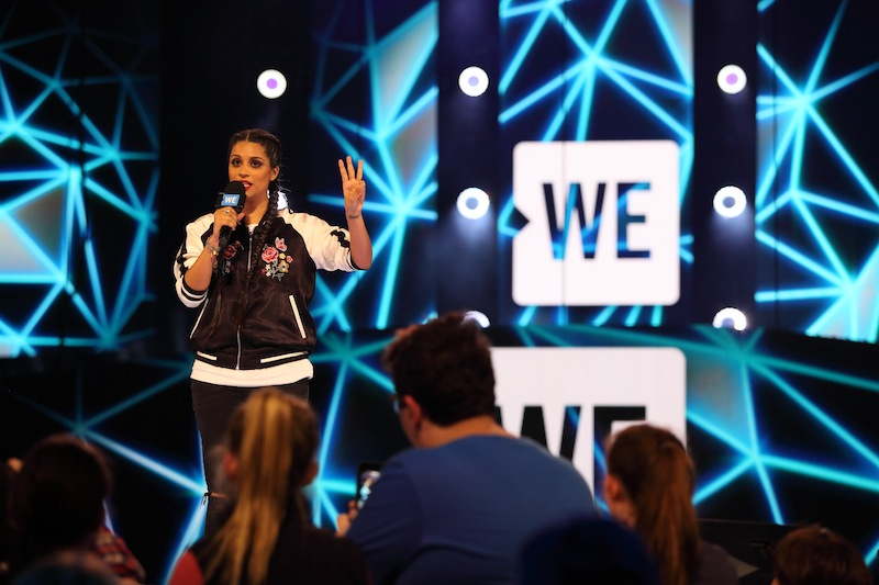 Lilly Singh speaks at WE Day Family 2016