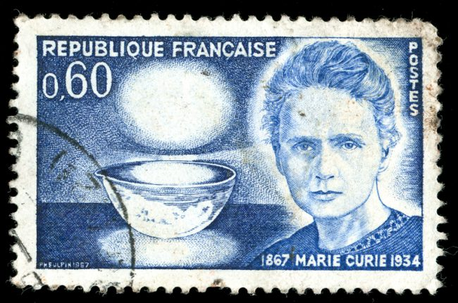 marie curie stamp