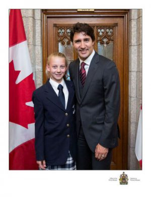 Rachel and Prime Minister Trudeau