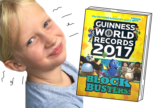 Lillie and World Records 2017 book