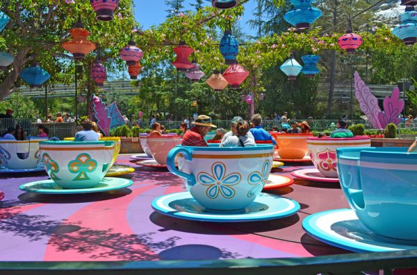 Mad Tea Party Teacup Amusement Ride in Disneyland