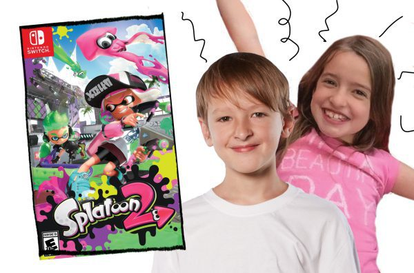Evan and Laurel with Splatoon 2
