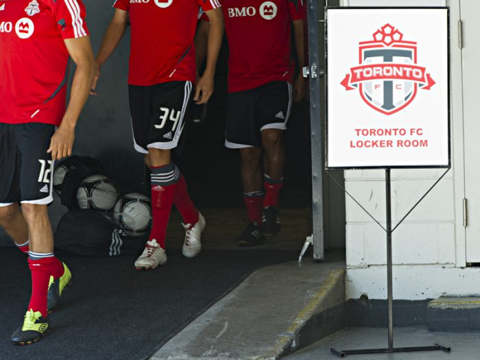 Toronto FC celebrates Supporters' Shield with fans