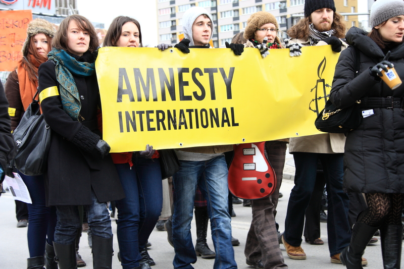 Amnsesty International activists in Poland