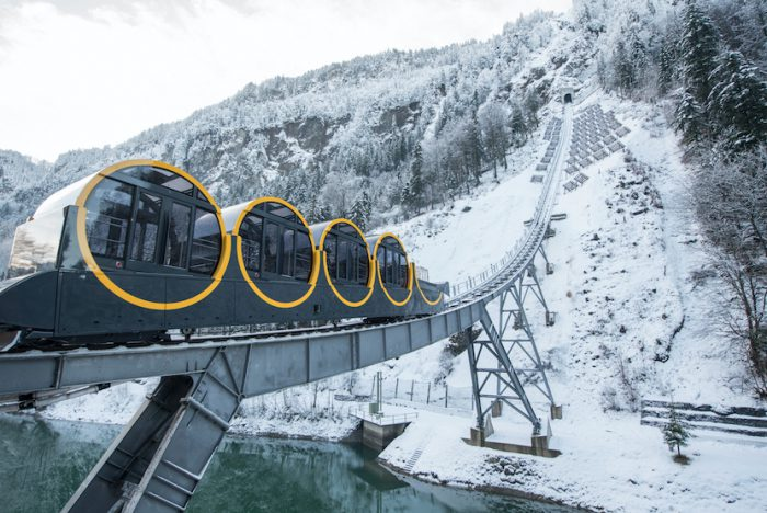 World's steepest funicular railway opens in Switzerland