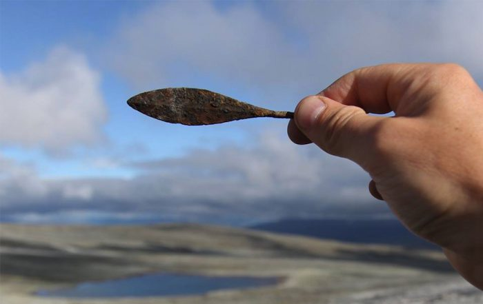 Buried treasures revealed after ice melts in Norway