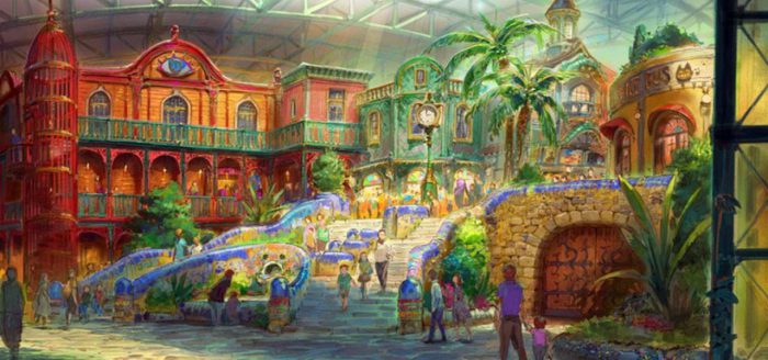 Studio Ghibli reveals concept art for its theme park