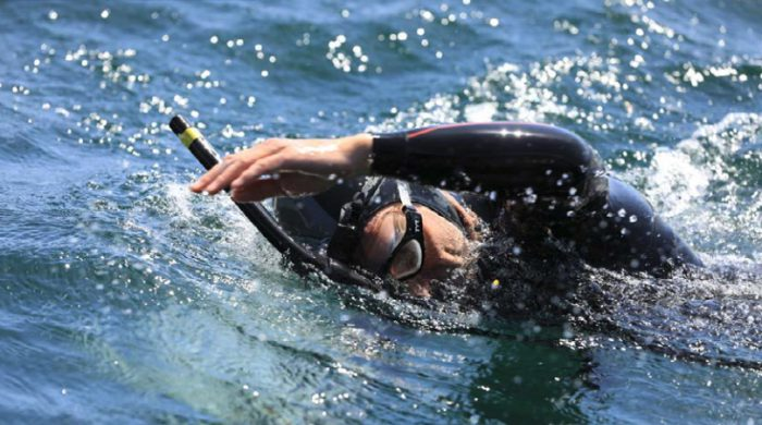 Ben Lecomte aims to swim across the Pacific
