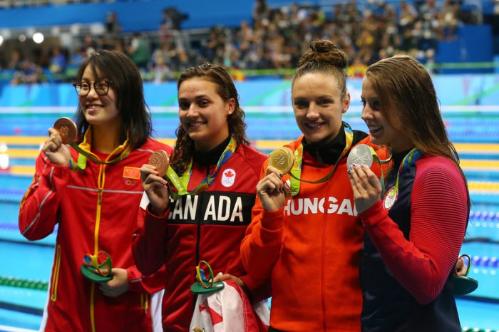 Canada shows off its future at swimming trials