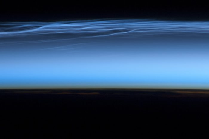Watch these rare blue clouds ripple across the sky