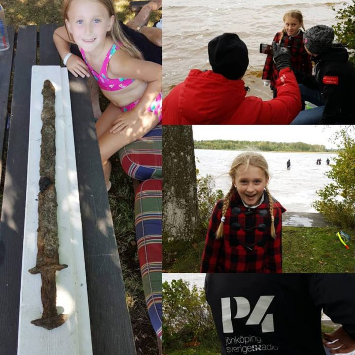 Swedish girl finds a pre-Viking sword in a lake