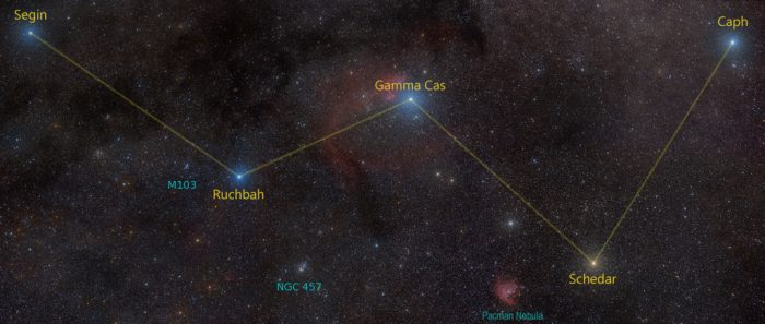 Cassiopeia Labeled