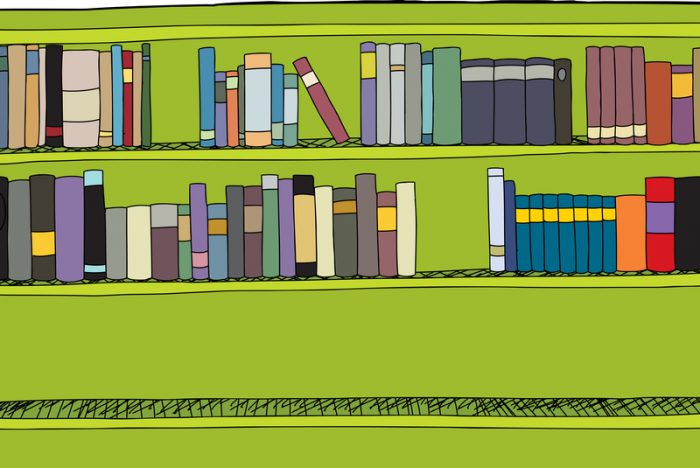 Illustration 54217824 © Eric Basir - Dreamstime.com bookshelf