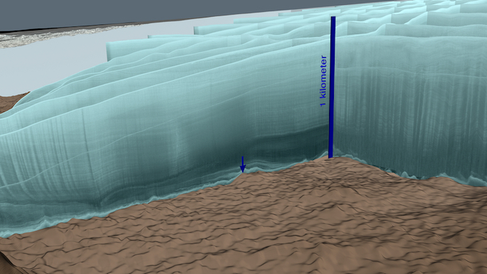 Surprise! There's a crater under that glacier!