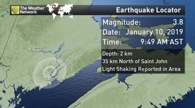 earthquake New Brunswick