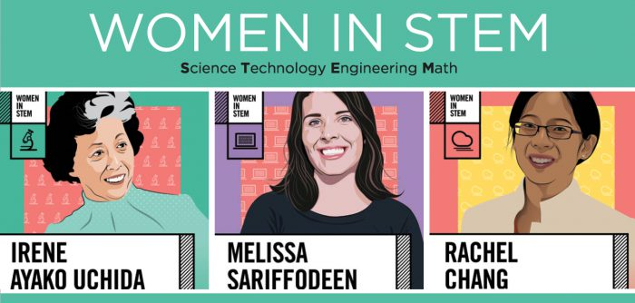 women in stem display
