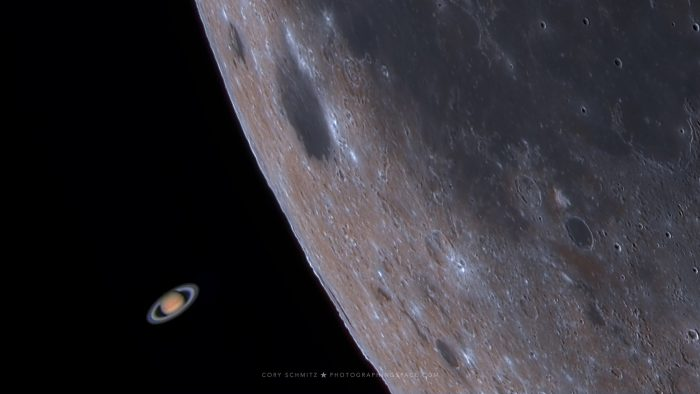 Watch Saturn emerge from behind the Moon