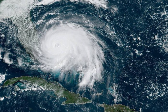 Hurricane Dorian lingers over the Bahamas