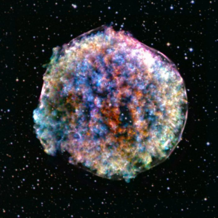 Tycho's Remnant is made of super supernova leftovers