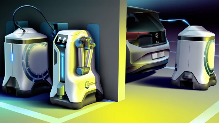 car-charging robot Volkswagen