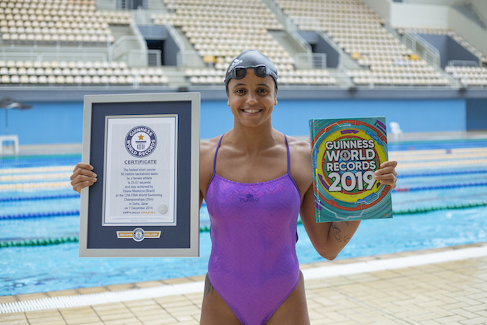 Brazilian swimmer Etiene Medeiros sets world record