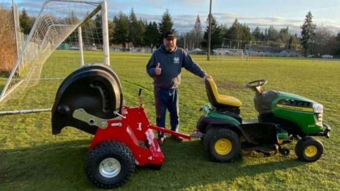 Poop zamboni makes BC field safe for soccer