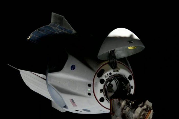 Space X's Crew Dragon makes contact... and history