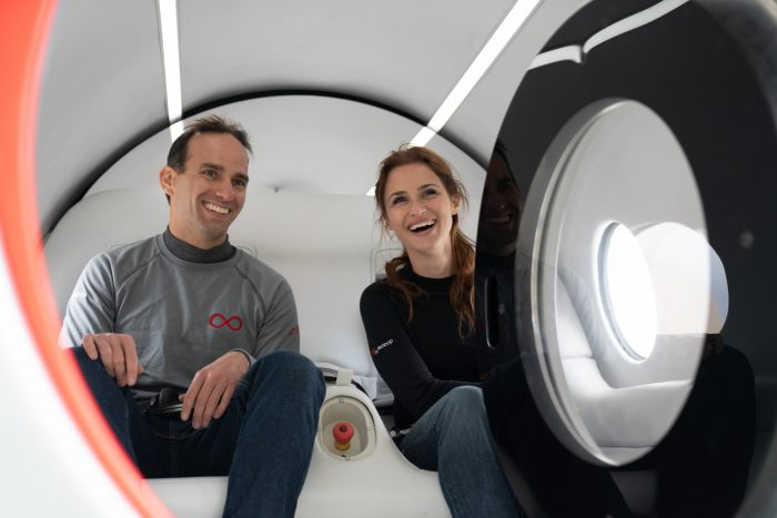 Watch passengers take a first test ride of Virgin Hyperloop