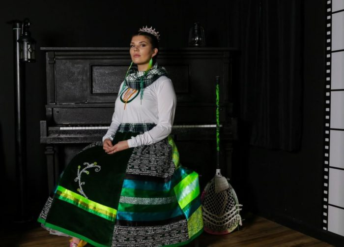 Akwesasne mother designs ribbon skirt honouring Ireland Lacrosse