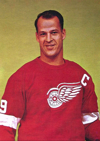 Gordie Howe's hockey card