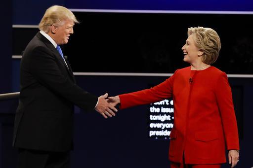 Campaign 2016 Debate Trump Clinton