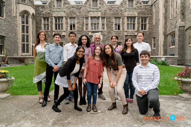David Suzuki and young activists at Planet in Focus 2016
