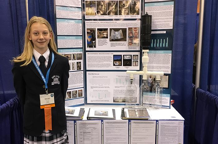 Rachel at the Intel ISEF 2016