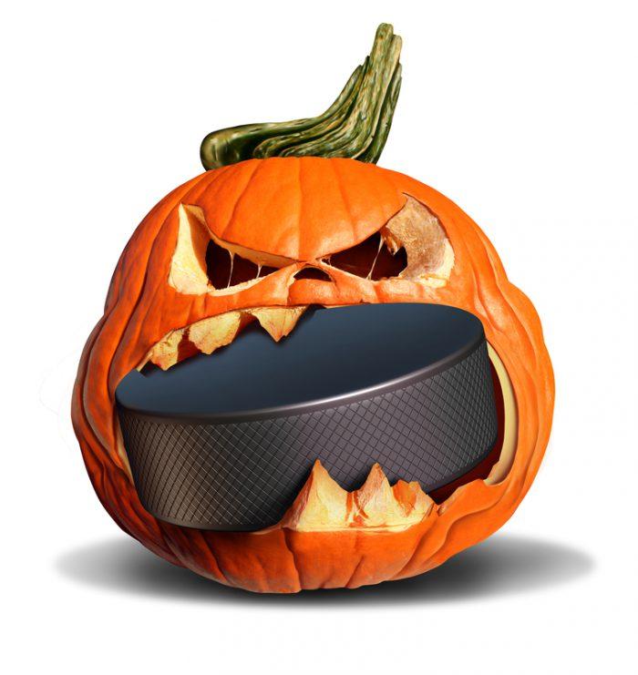 gritty halloween hockey