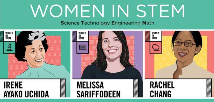 women in stem display