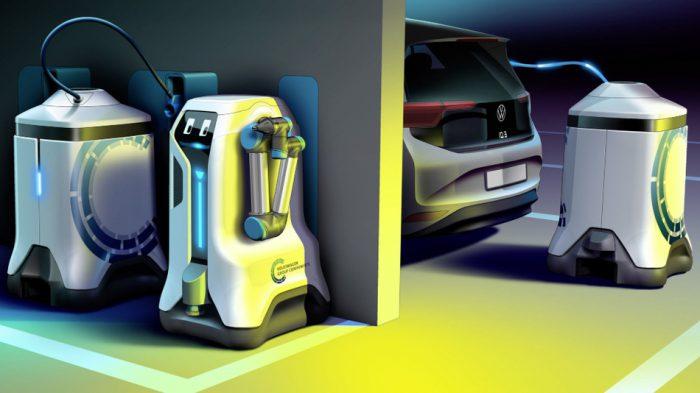 car-charging robot Volkswagen