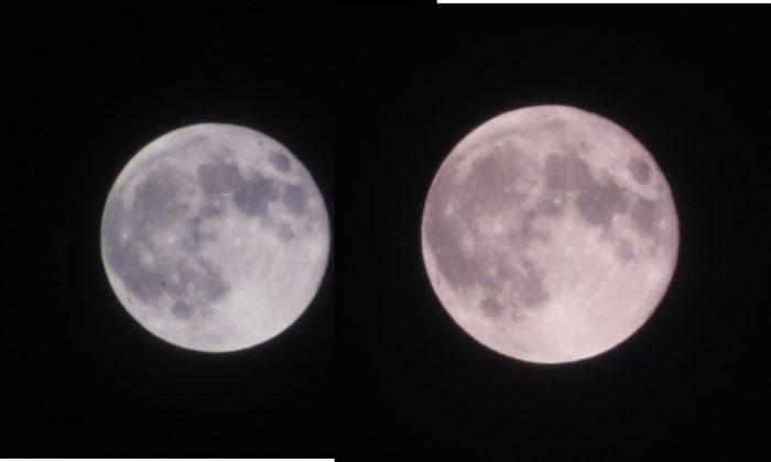 Moon apogee vs perigee